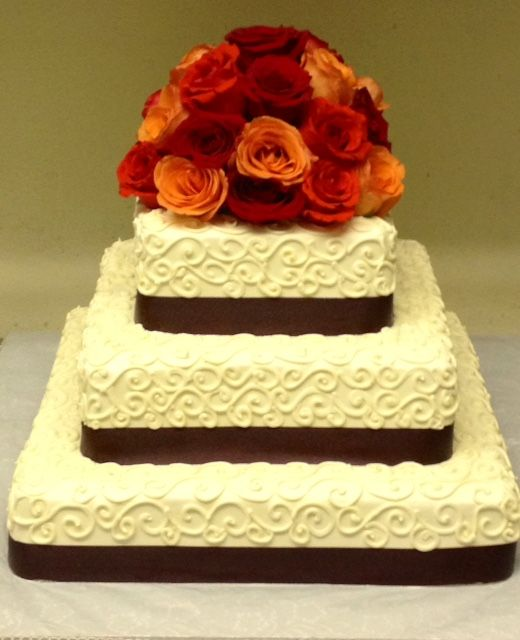 Square Multi Layered Cake Js Pastry Shop In Pensacola