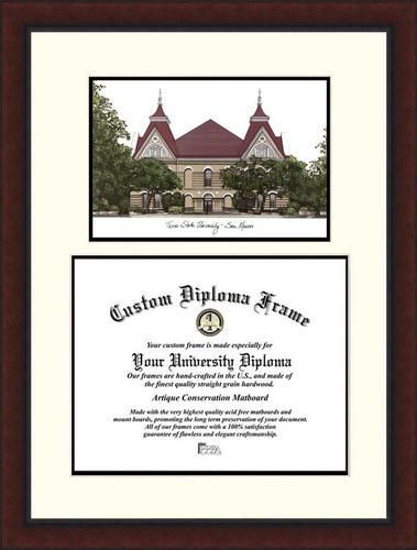 Texas State University Diploma Frame Lithograph Legacy Series ...
