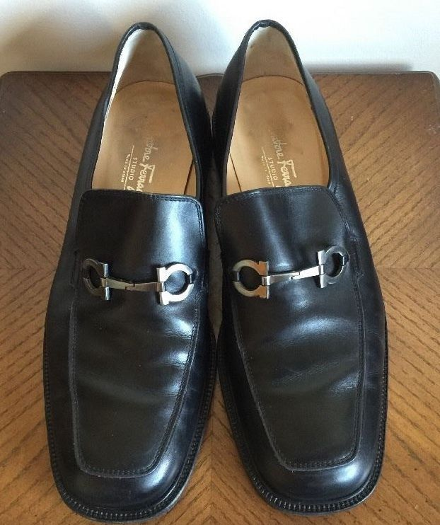 50c13ad59ed20 Salvatore Ferragamo Studio Black Leather Dress Shoe Mens Size 10 VG Italy  Made #SalvatoreFerragamo #Oxfords #Formal