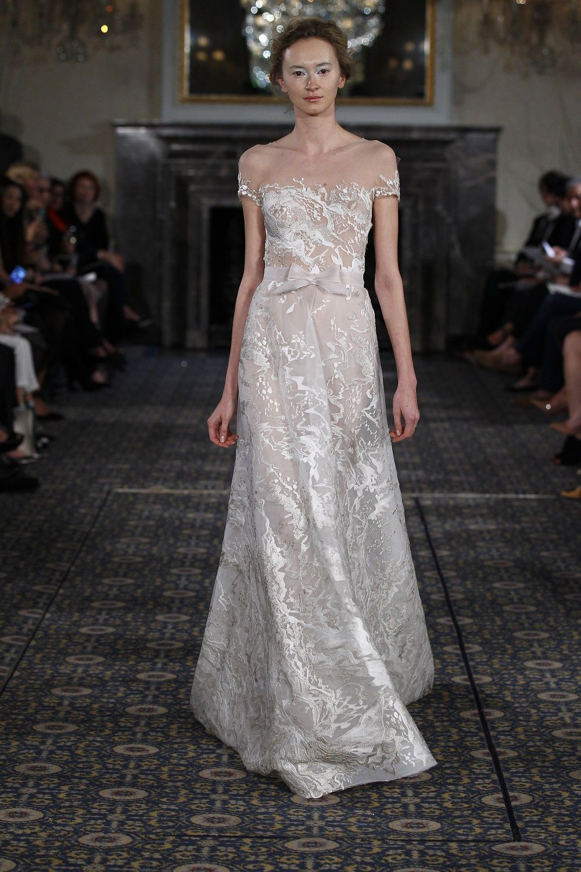 Sienna bridal gownaline volume pinterest illusion neckline