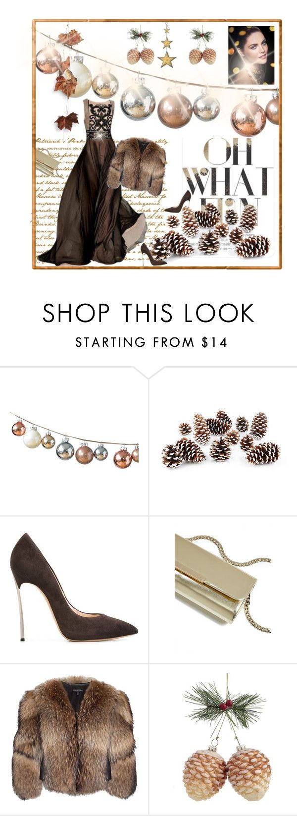 """holiday"" by bodangela ❤ liked on Polyvore featuring DwellStudio, Estée Lauder, Knud Nielsen Company, Casadei, GUESS, Adrienne Landau and Lord & Taylor"