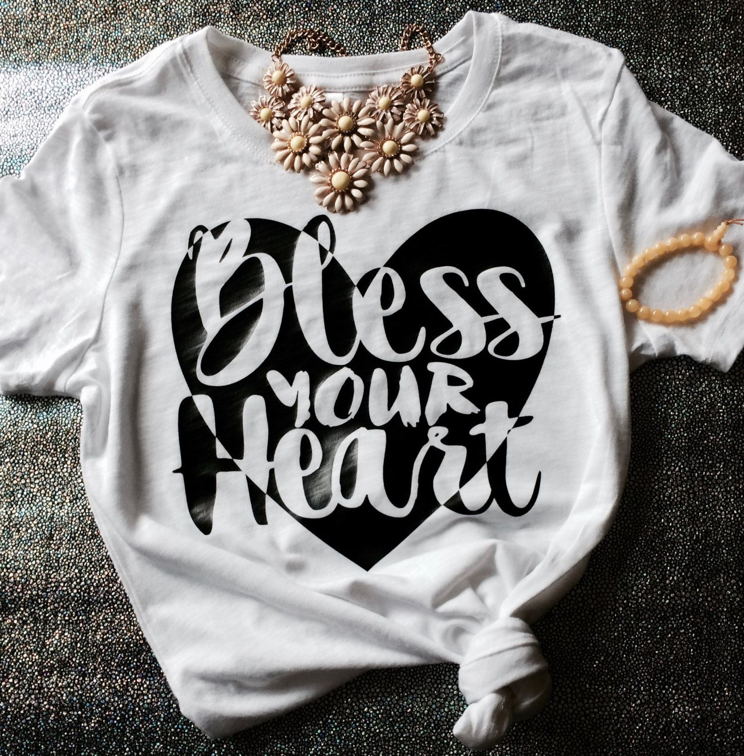Bless Your Heart Southern Belle T-shirt by BlossomBuds on Etsy
