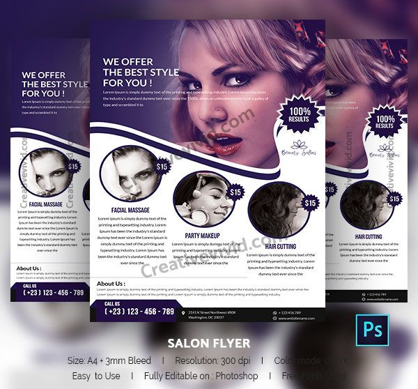 You wonu0027t believe there are tremendous numbers of creatively - hair salon flyer template