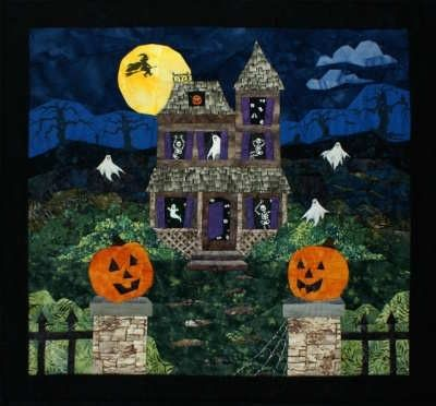 Haunted House Paper Piecing Quilt Pattern By England