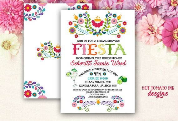 Fiesta Invitation Bridal Shower By Hottomatoink2