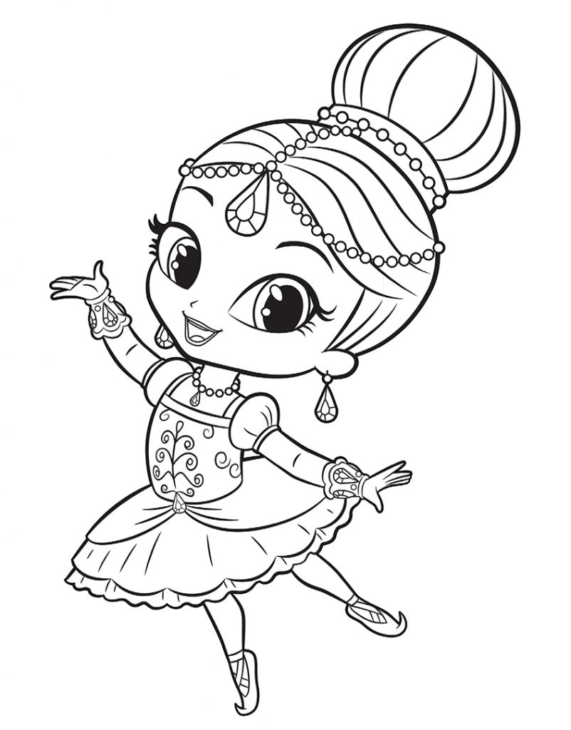 Leah shimmer shine coloring pages color shimmer n shine coloring pages