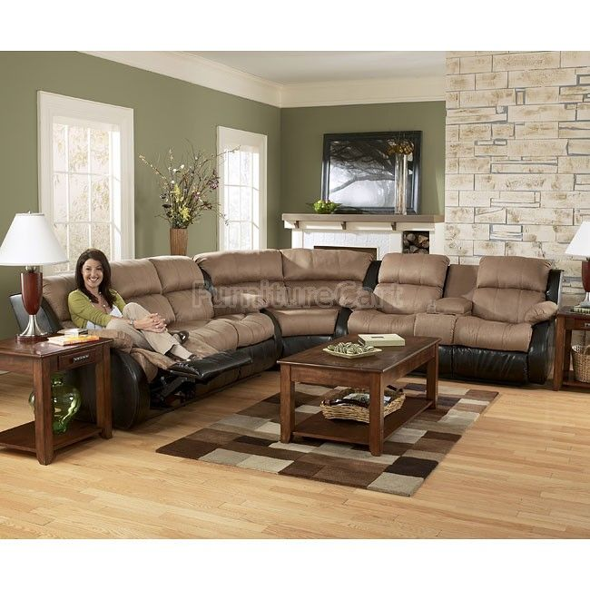 Marvelous Presley Cocoa Reclining Sectional Living Room Set Living Andrewgaddart Wooden Chair Designs For Living Room Andrewgaddartcom