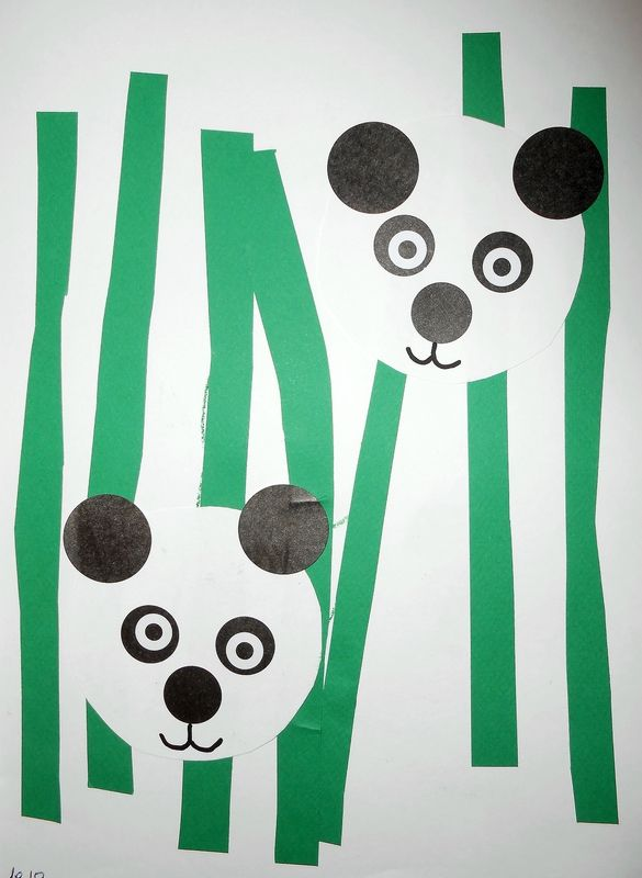 Panda Collage Facile Activit S Manuelles Pinterest Panda Collage Et Chine