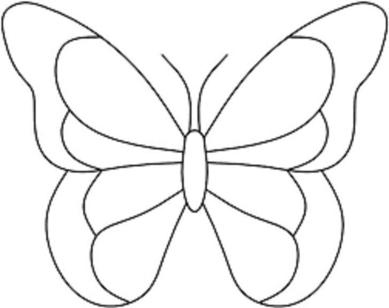 Resultado De Imagen Para Okul öncesi Kelebek Boyama Boyama Sayfası