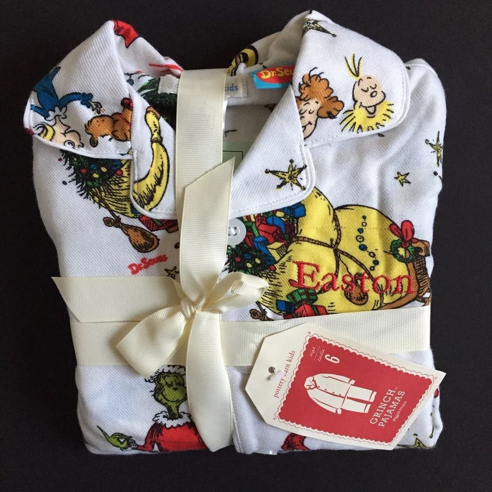 Details about POTTERY BARN KIDS FIRETRUCK FLANNEL PAJAMAS