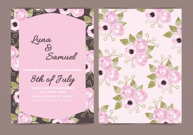 Invitation Letter Of Flower And Flower Wedding Download The Hd Full