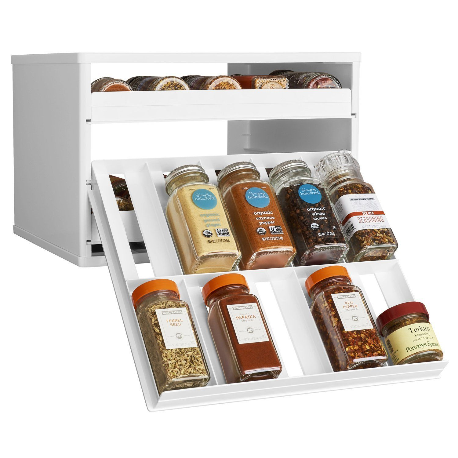 Amazon.com: YouCopia MiniStack 12-Bottle Spice And Vitamin
