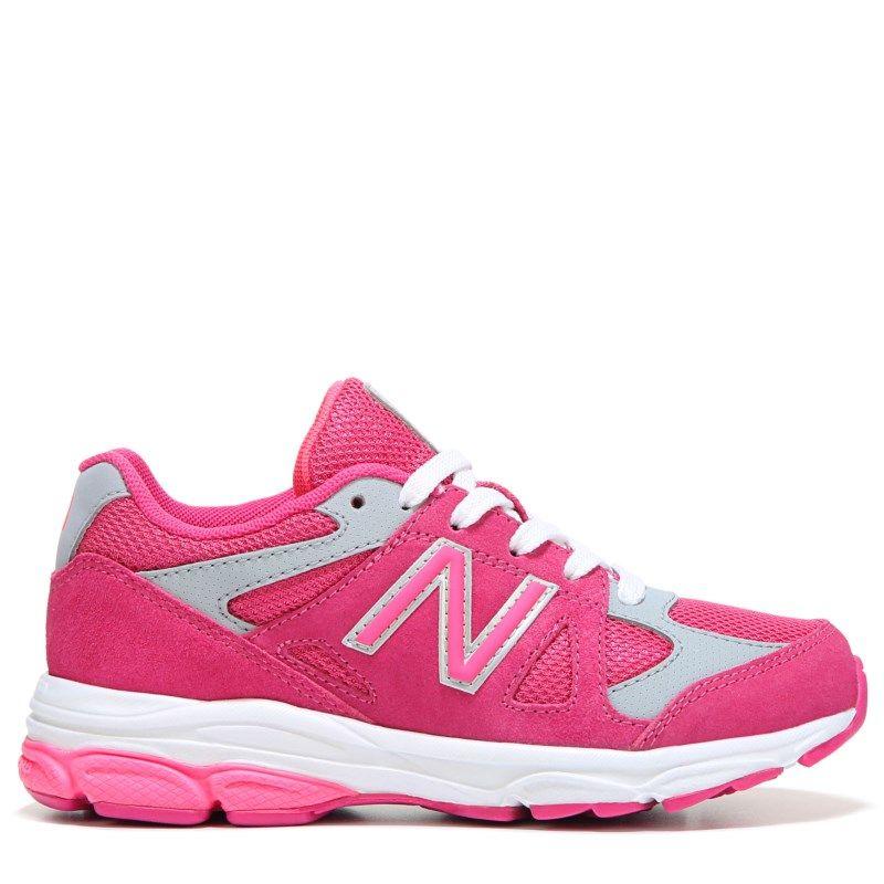 9393c20c35a86 New Balance Kids' KJ888 Medium/Wide/X-Wide Running Shoe Grade School Shoes ( Pink/Grey Leather) - 7.0 2W