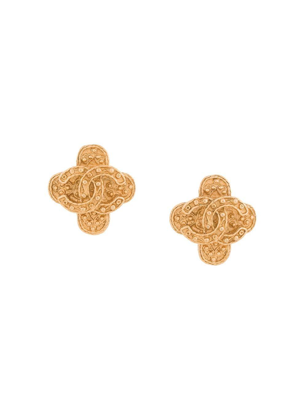 f49c26fcd6fc Chanel Vintage CC logos earrings - Metallic | Where To Buy Vintage ...