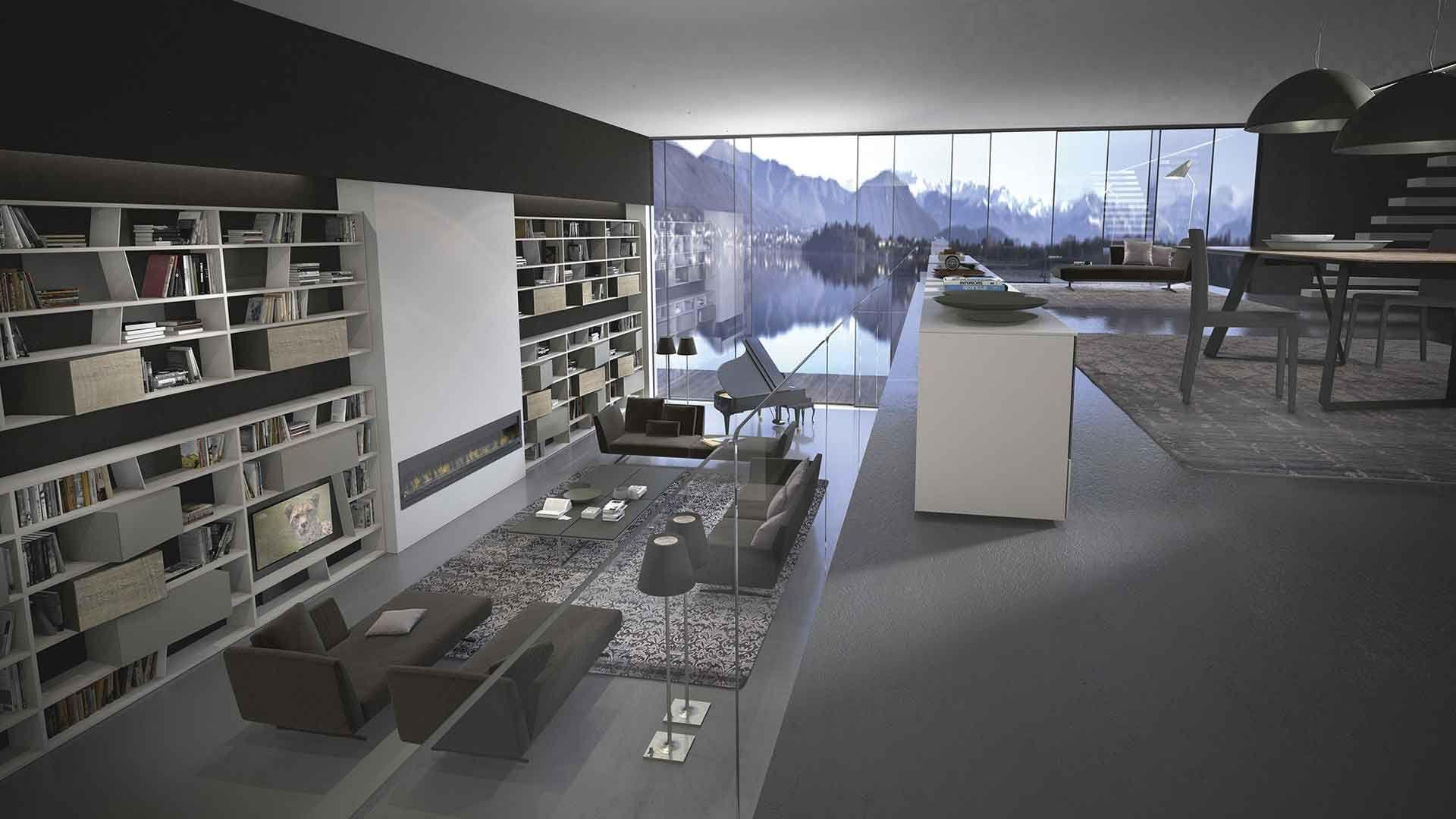 Stunning Bucherregal Systeme Presotto Highlight Wohnraum Photos ...