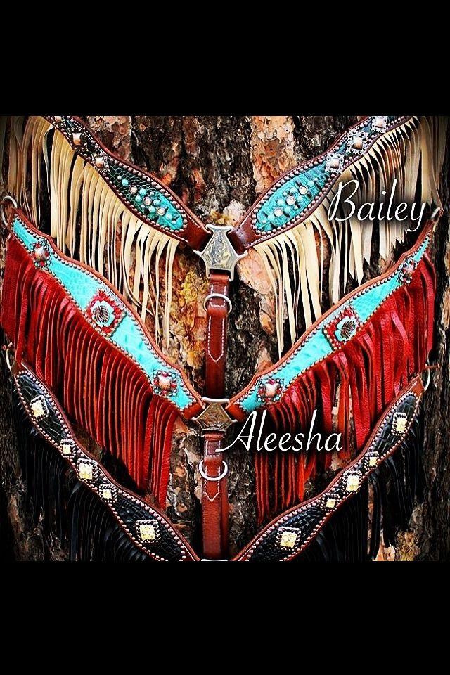Heritage Brand fringe breast collars