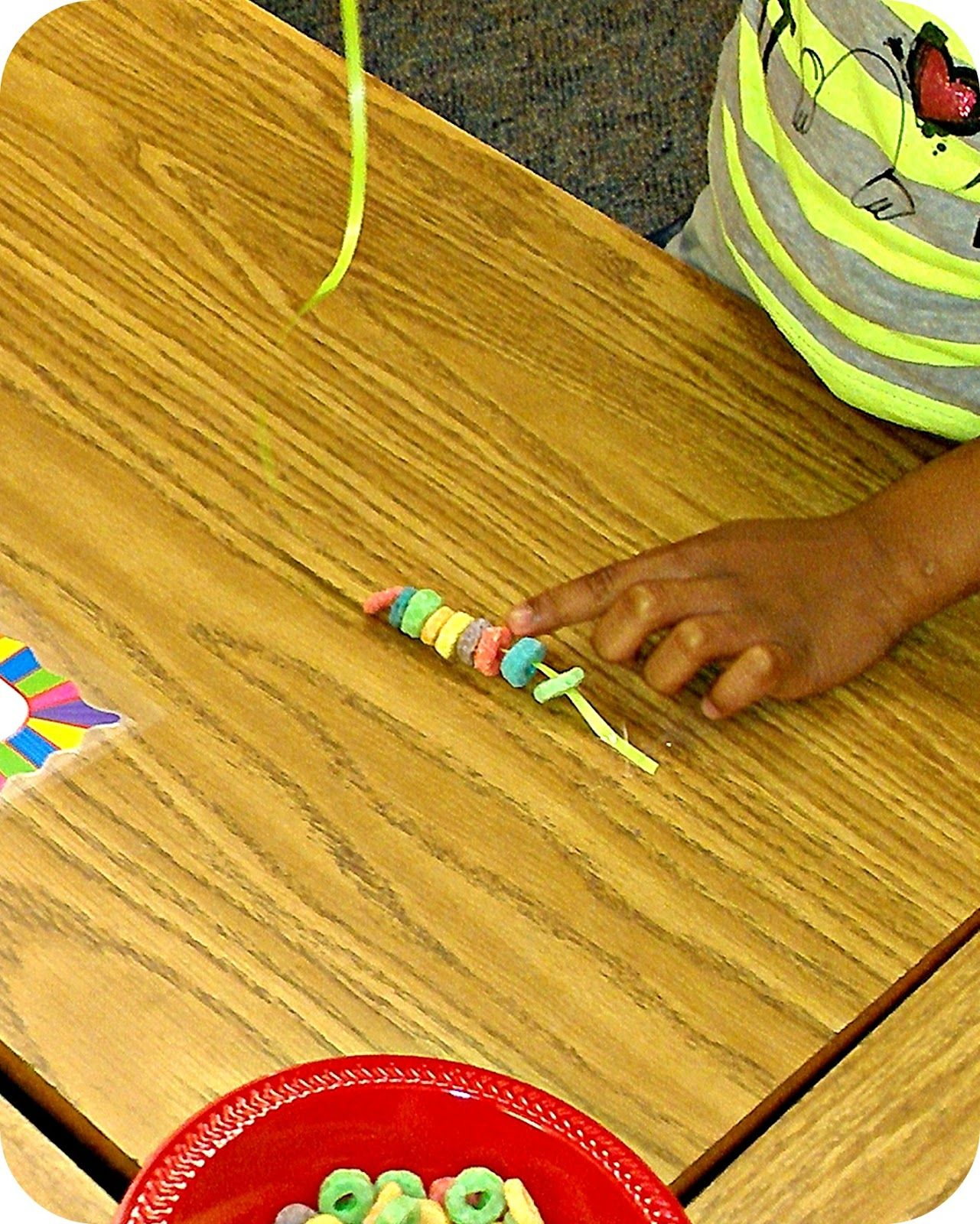 What Happens In First Grade Fruit Loop Pattern Necklaces