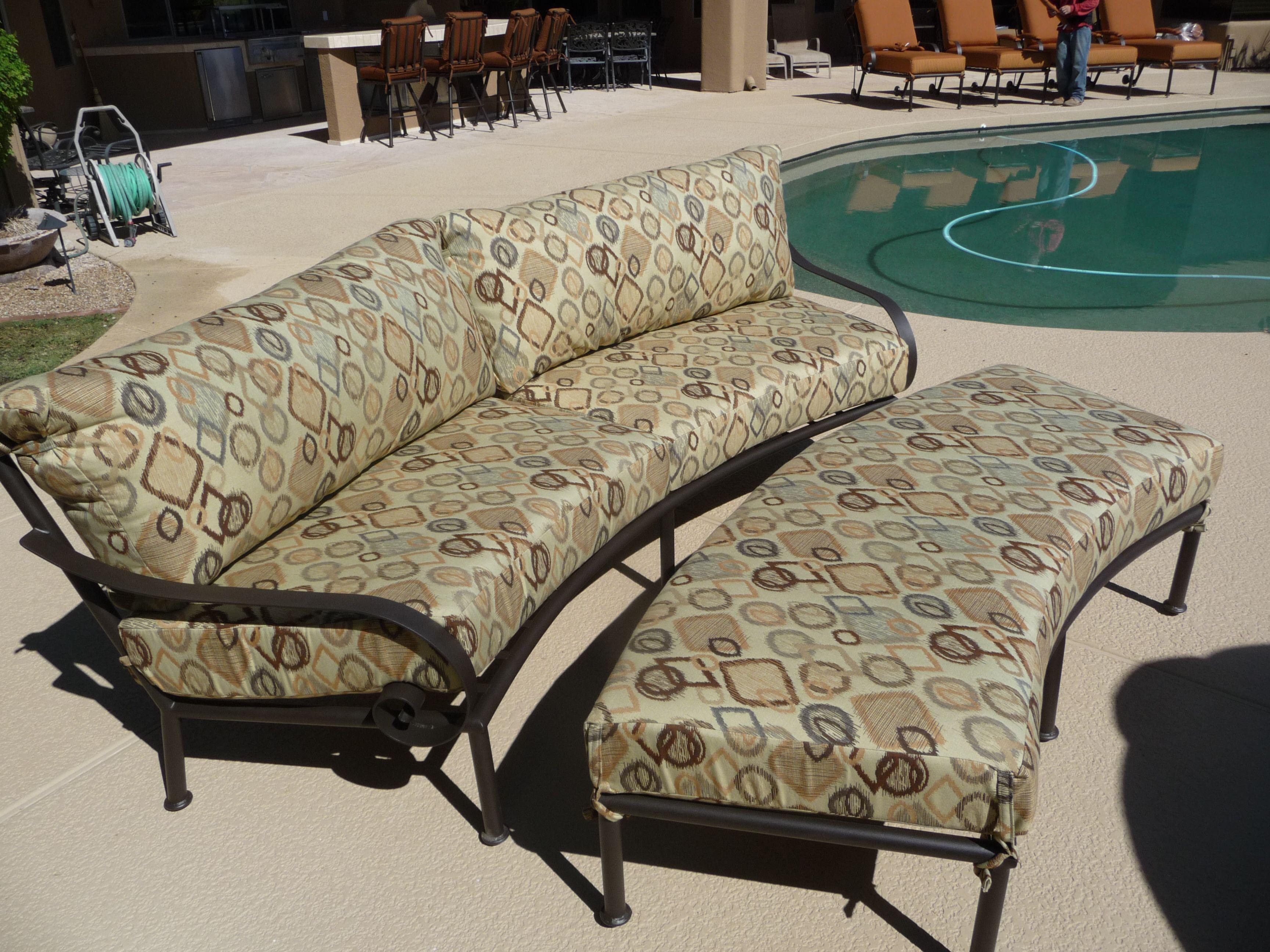 Elegant Outdoor Furniture Curved Sofa U0026 Ottoman.