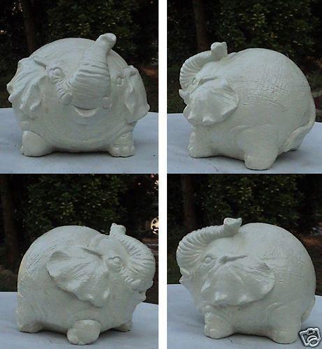 Concrete Latex Fiberglass mold Garden Fat Elephant