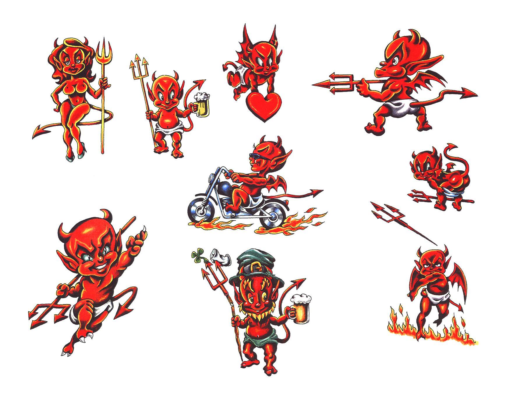 8e52f95b1 love the lil devils | Amanda | Devil tattoo, Angel devil tattoo ...