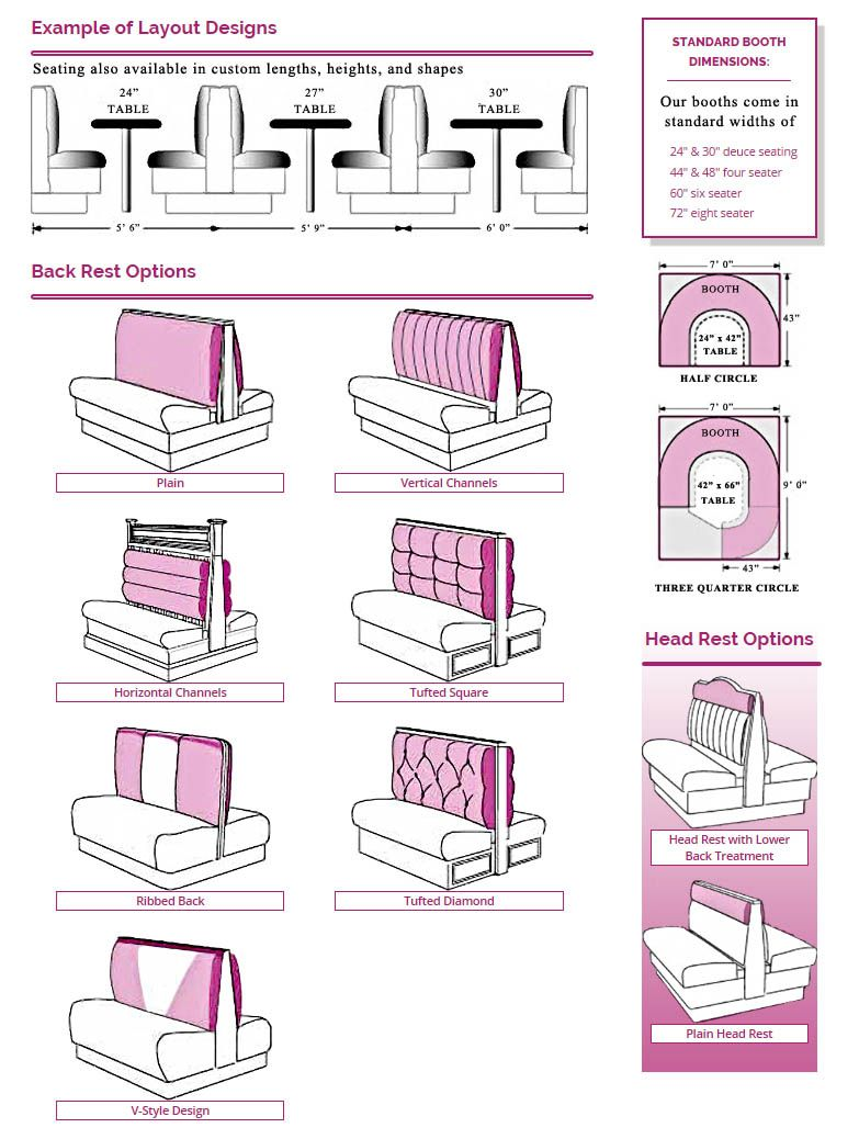 Booth Backrest Rendering | Tapeçaria | Pinterest | Banquettes ...