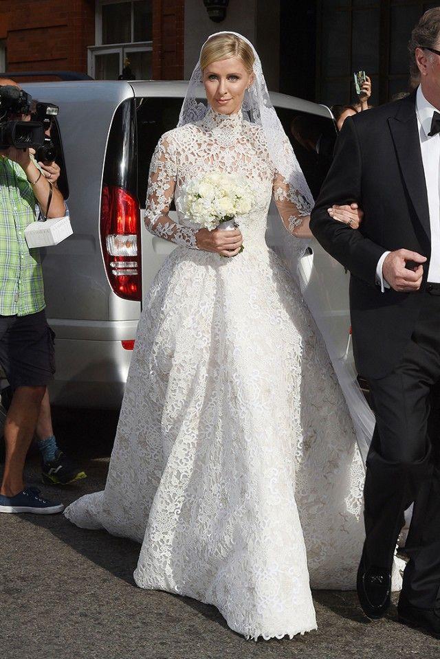See Nicky Hilton S Gorgeous Valentino Wedding Dress Wedding Dresses Celebrity Wedding Dresses Nicky Hilton Wedding