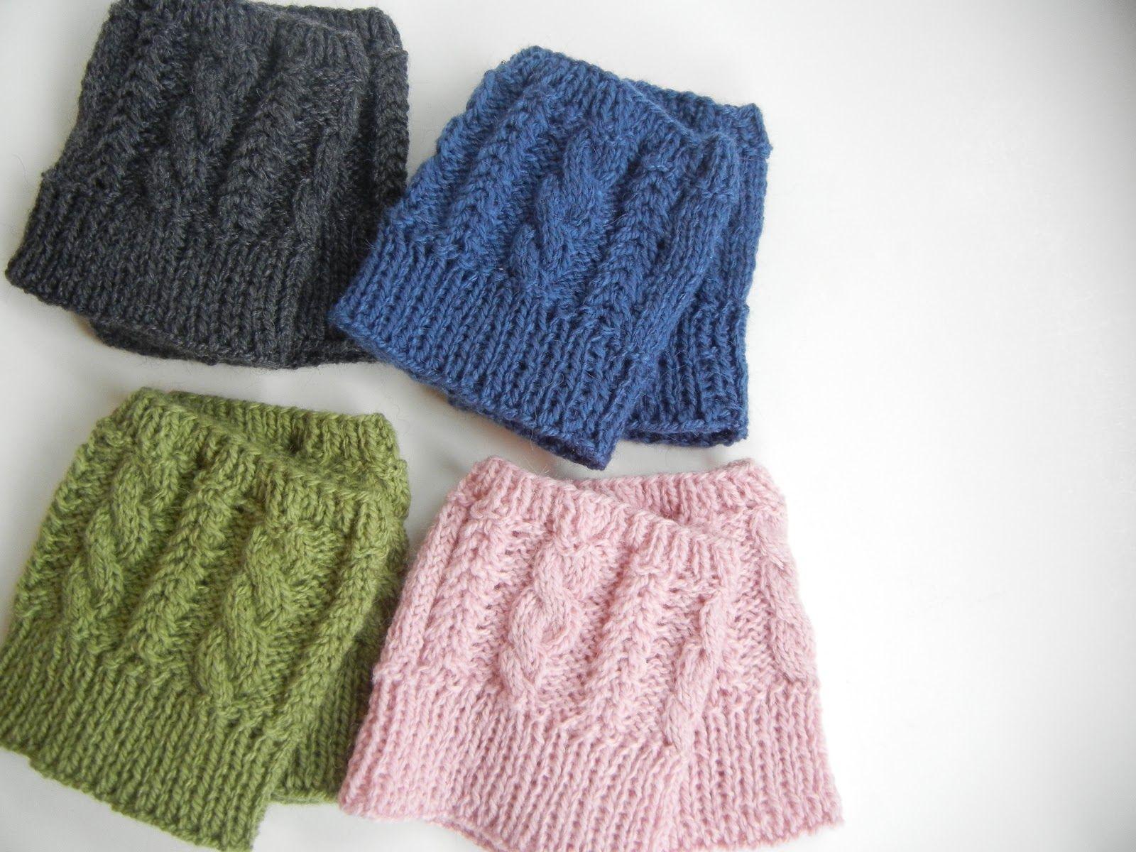 Free Boot Cuff Knit Pattern   Cabled Boot Cuff Knitting Pattern ...