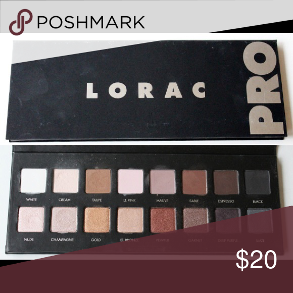 Lorac Pro Palette Original Lorac Pro Eyeshadow Palette.  Barely used, none of the shadows have come close to hitting pan.  Great Palette, I just have too many and trying to minimize my collection. Lorac Makeup Eyeshadow