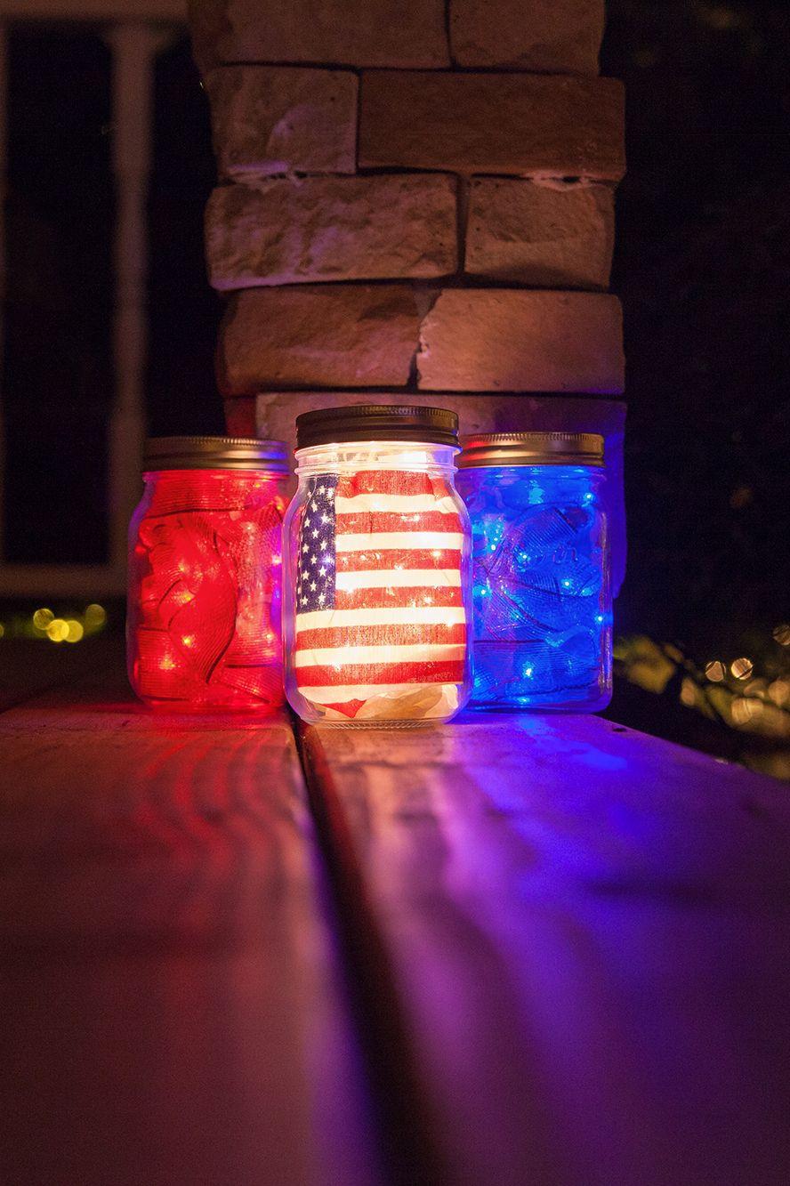 Love This Super Easy Idea Using Mason Jars Lights And