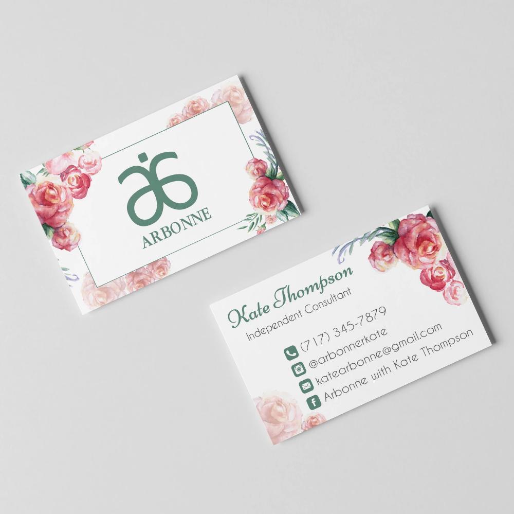 Arbonne Business Cards Personalized Arbonne Cards Ab01 Arbonne Business Cards Arbonne Business Vistaprint Business Cards