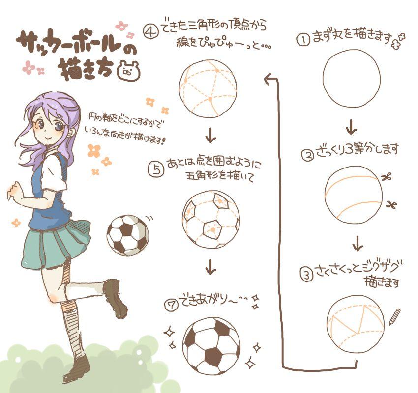サッカーボールの描き方 作画テクニック In 2019 サッカーボール