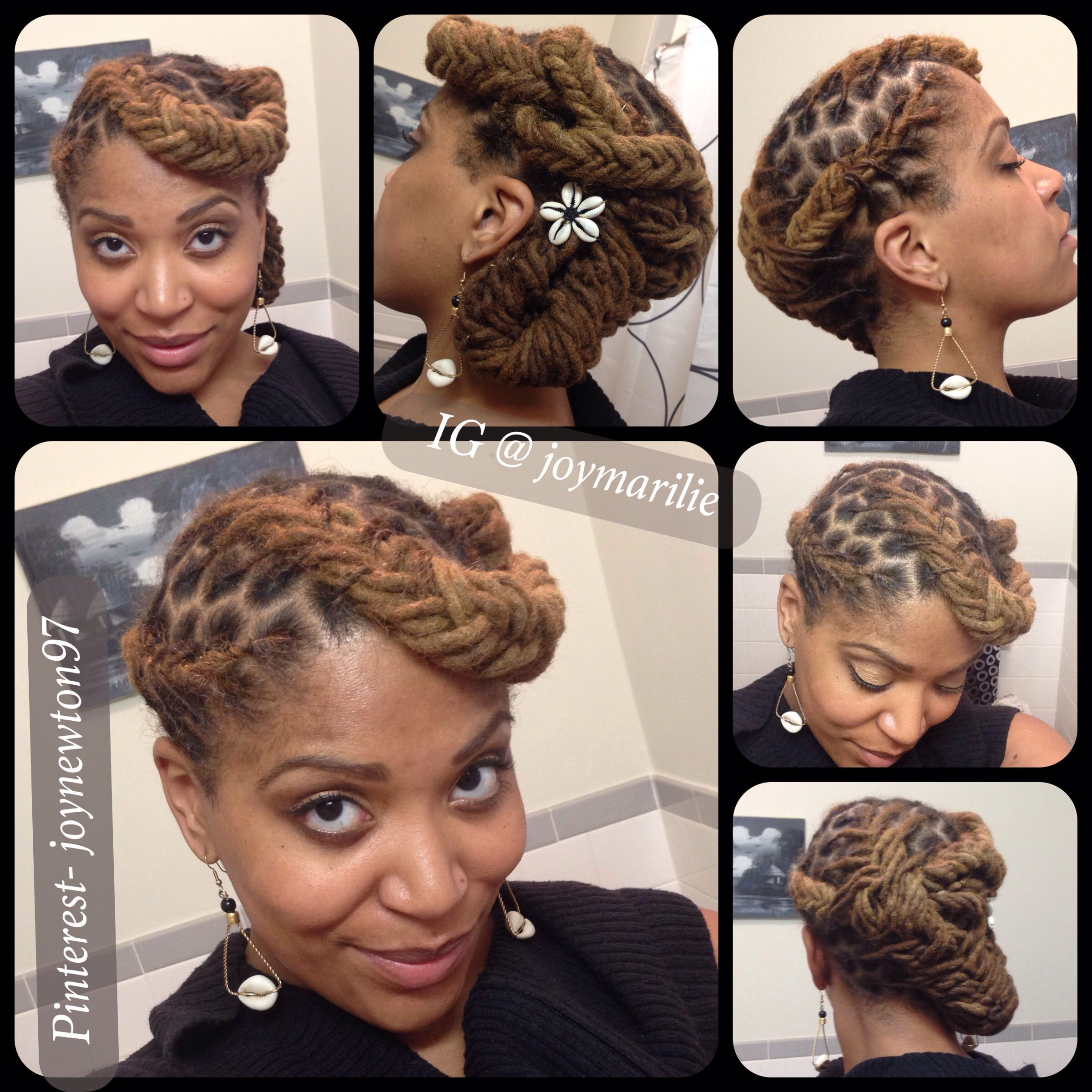Fish braid pin-up | My Loc Styles and Experiments ...