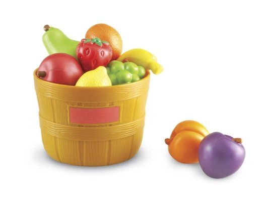 Amazon.com : Learning Resources New Sprouts Bushel of Fruit Set : Toy Foods : Toys & Games