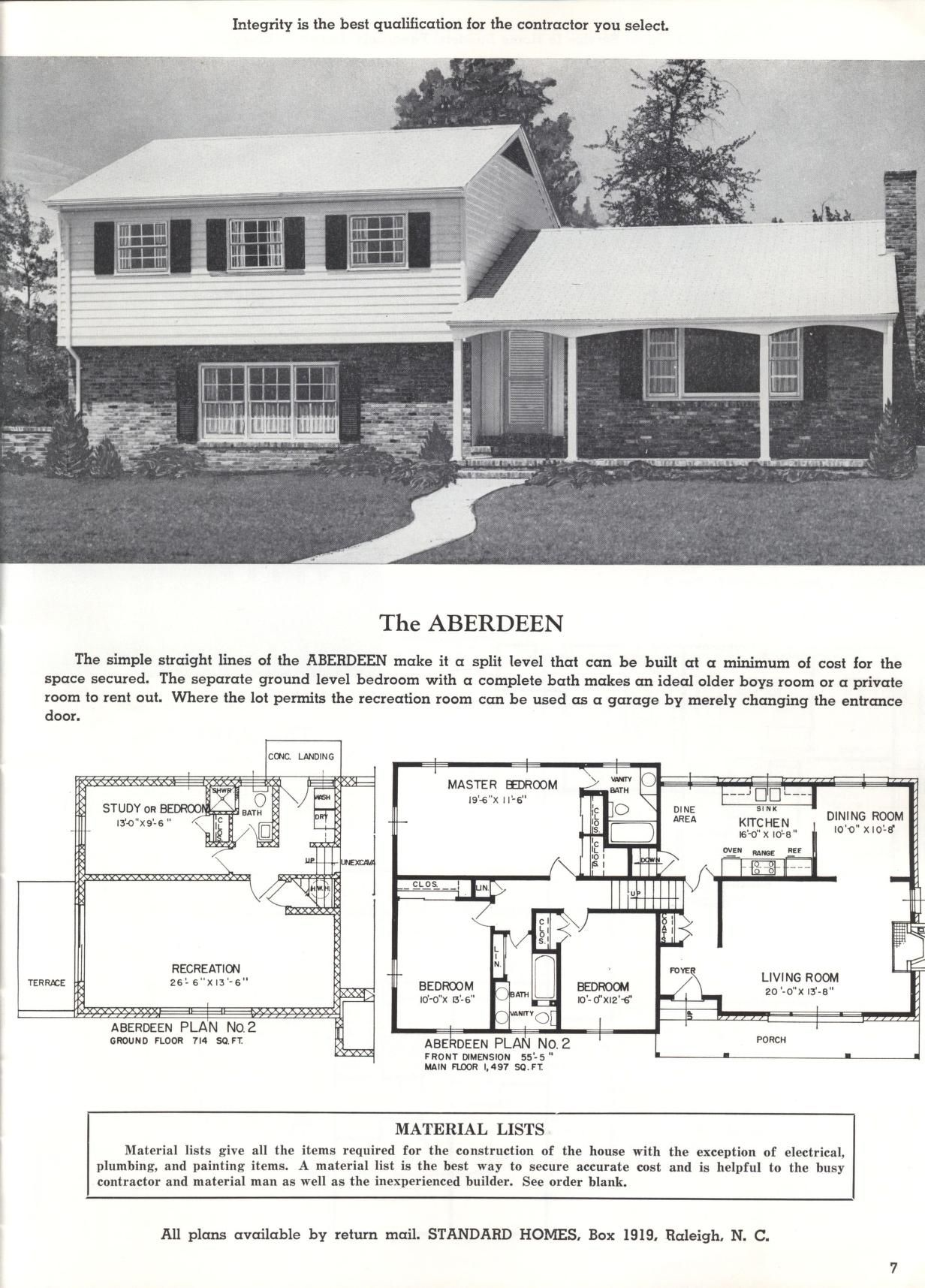 Better Homes At Lower Cost A 46 By Standard Homes Co The Aberdeen Ranch House Plans House Blueprints Maine House