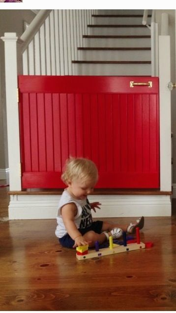 Use Beadboard And 1x3 For Baby Gates At Top And Bottom Of Stairs For  Charlotte? Along With A Sliding Hinge For Easy Removal When Needed. Hmmm..