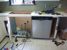 Installing A Full Size Dishwasher In Old Shallow Cabinets Shallow Cabinets Diy Kitchen Remodel Dishwasher Installation