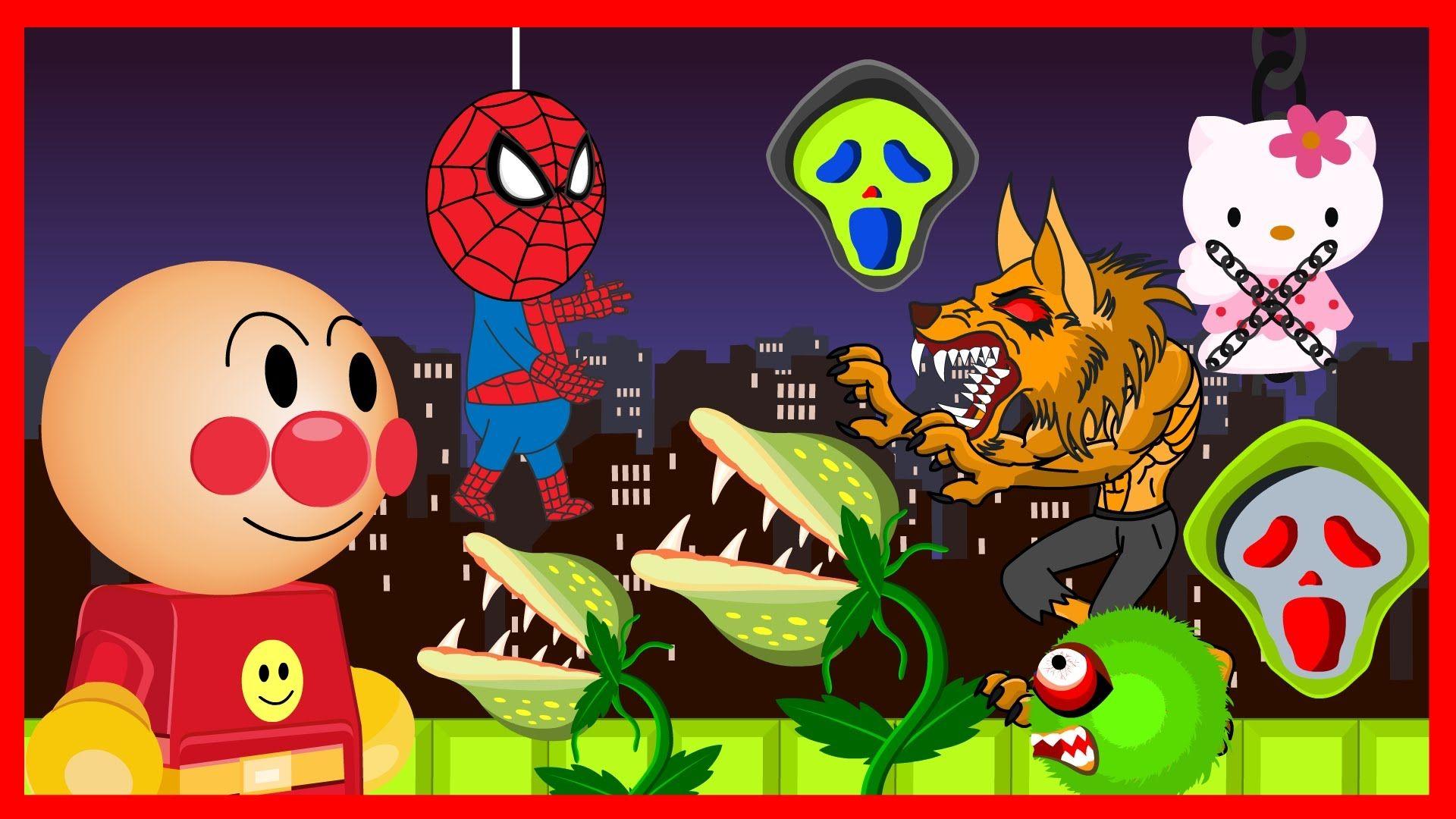 Anpanman Toys Anime Episode 54 Anpanman and Spiderman