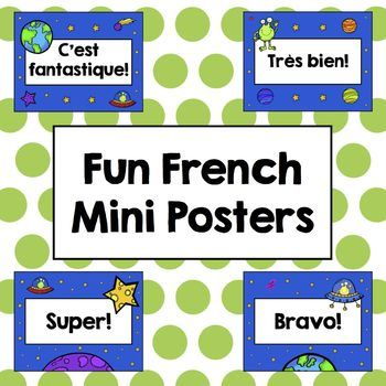 $ Fun French Mini Posters