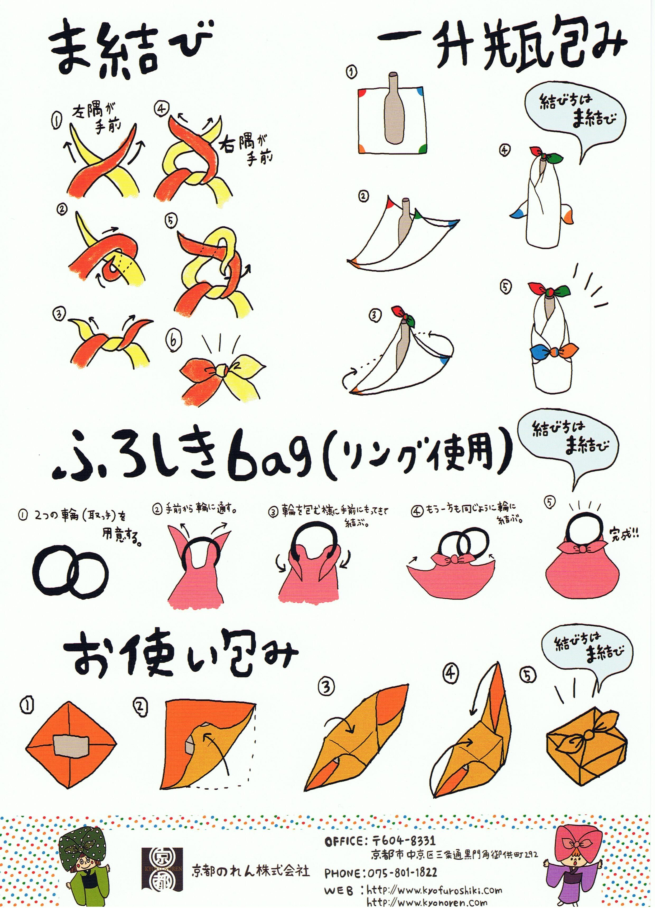 Furoshiki Wrapping Instructions Craftiness Pinterest Gift