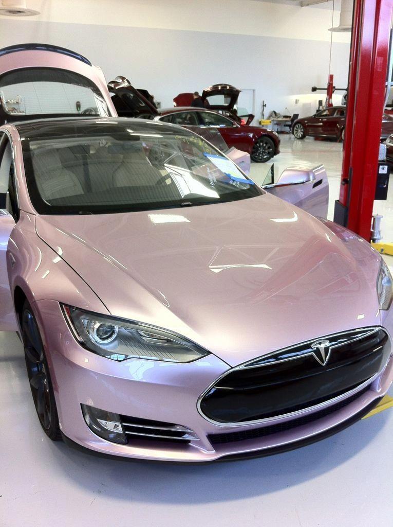 Pink Tesla FerrariPink in 2020 4 door sports cars, Audi