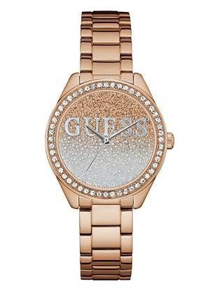 eb7fe3206 Rose Gold-Tone Glitter Watch | shop.GUESS.com | GUESS / Watches ...