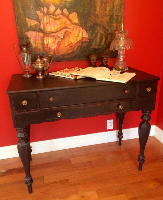 Sheraton Style Antique Flip Top Writing Desk by ArroyaveStudio - Sheraton Style Antique Flip Top Writing Desk- SOLD Writing Desk