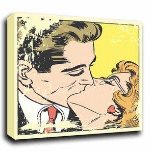 Roy Lichtenstein Prints | the kiss roy lichtenstein style abstract pop art canvas print | eBay