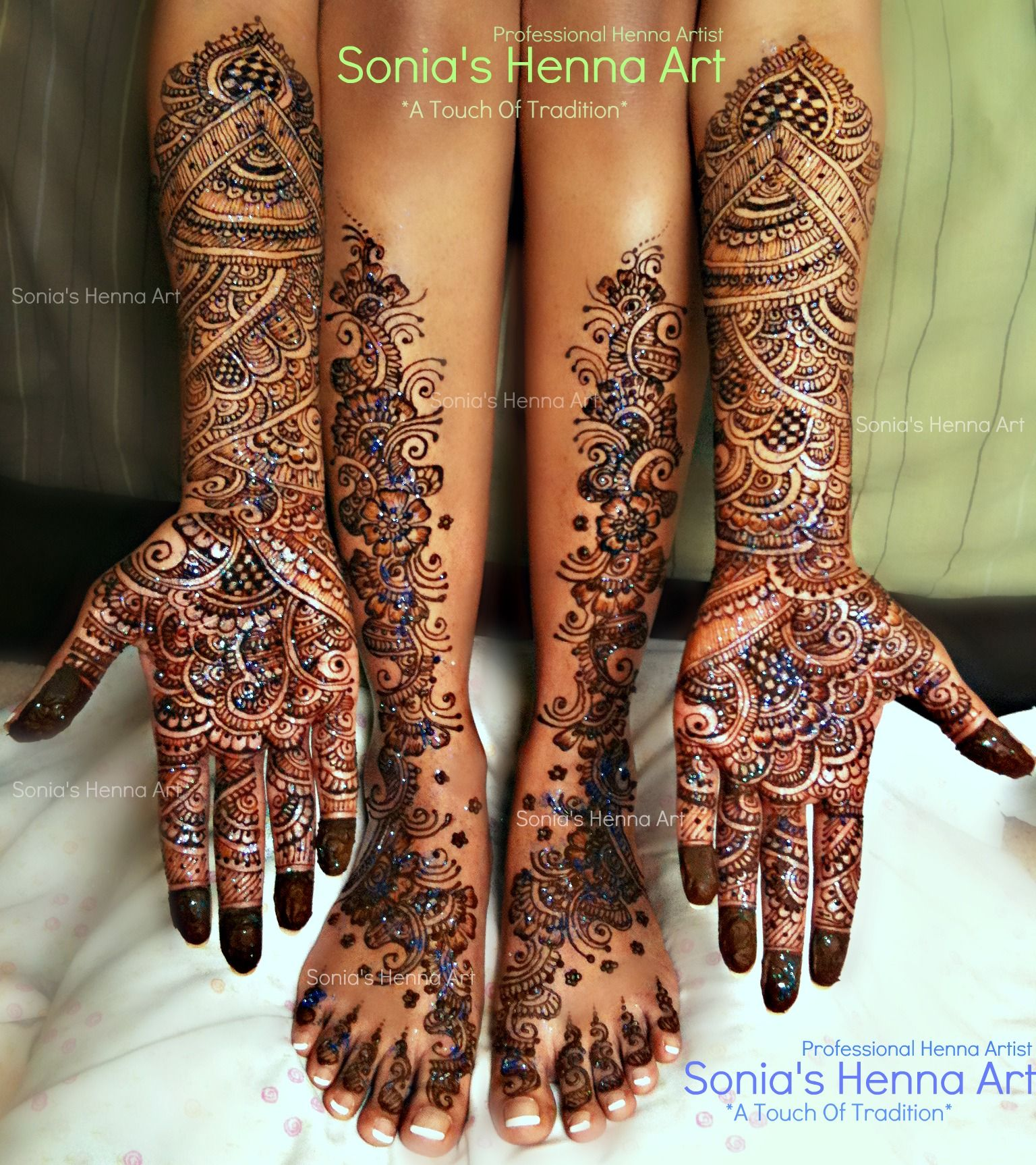 Henna Tattoo For Indian Wedding: Copyright © Sonia's Henna Art