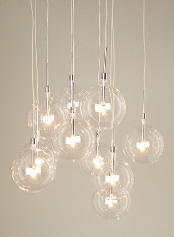 Clear Dee 10 Light Cluster Pendant Light Products I