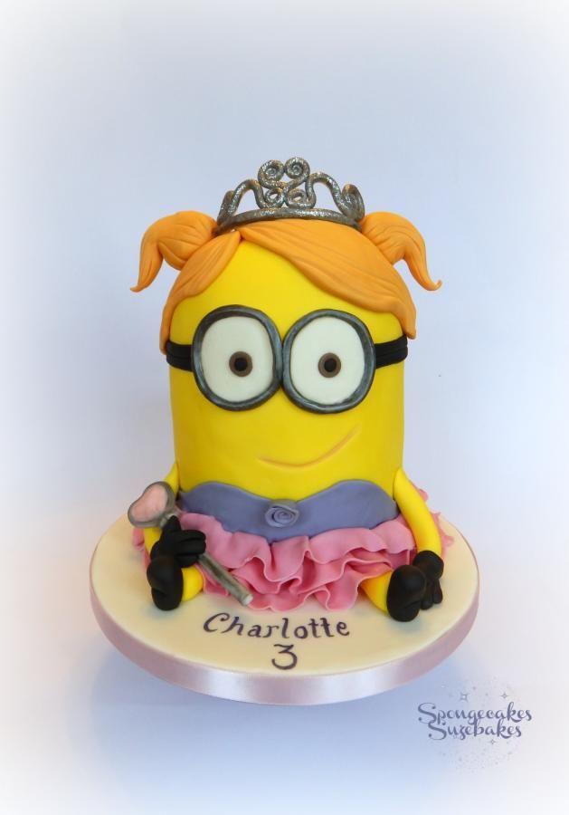 How cute is his princess/ballerina Minion! www.spongecakessuzebakes.co.uk