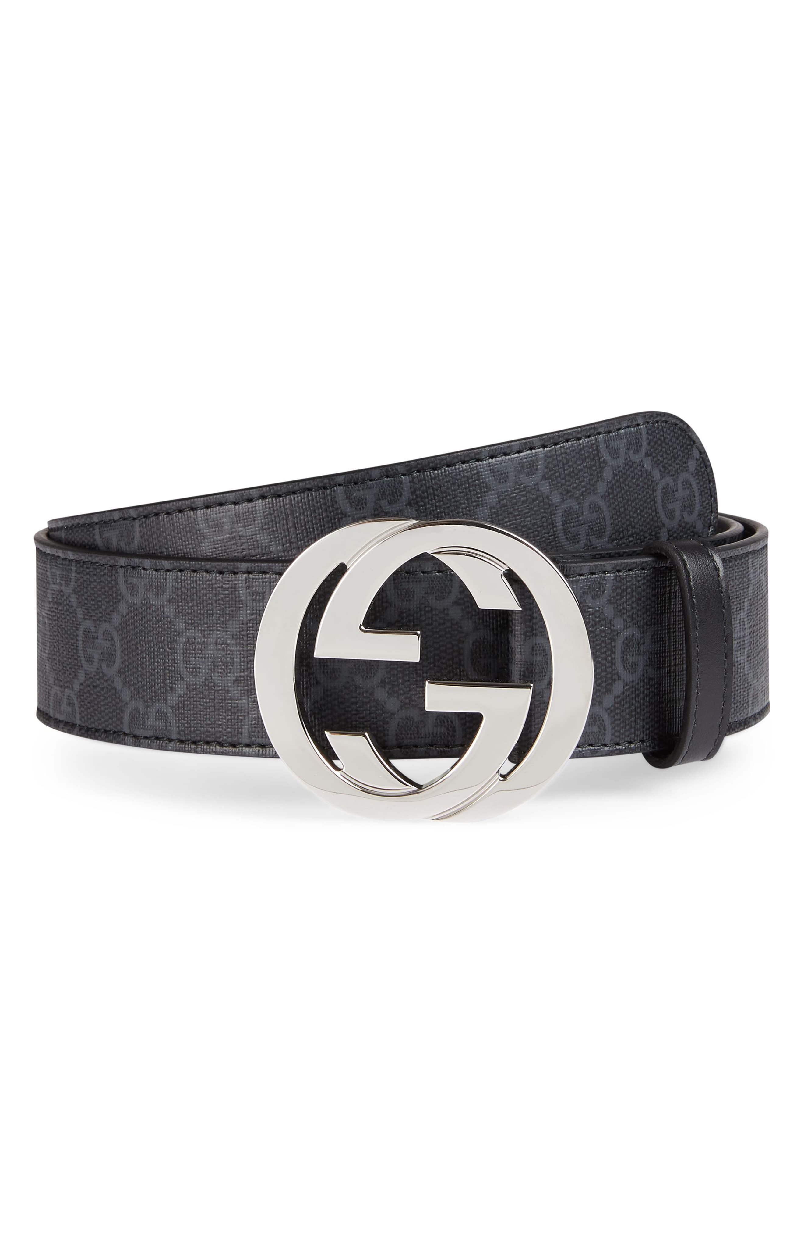 Gucci Logo Buckle Interlocking Belt Belt, Gucci, Gucci