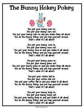 The Bunny Hokey Pokey Song Poem Easter Lessons Easter Songs