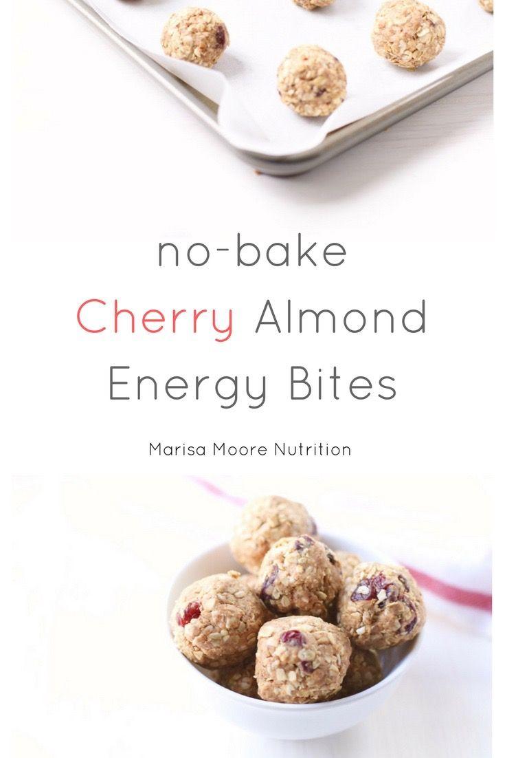 No-Bake Cherry Almond Energy Bites #ad | @marisamoore