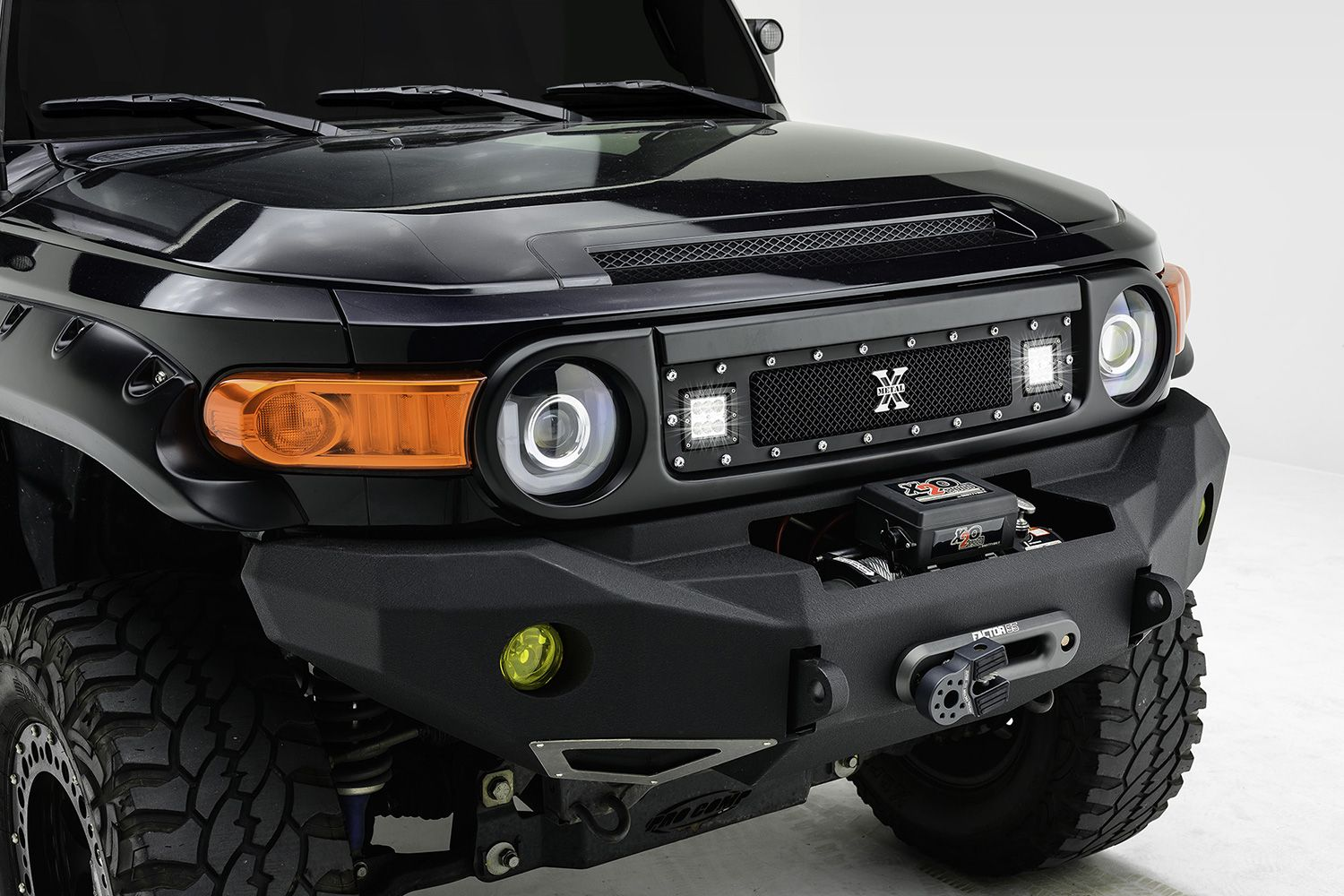 T rex 1 pc torch series black formed mesh grille with 2 x 3 led t rex 1 pc torch series black formed mesh grille with 2 x 3 led light cubes voltagebd